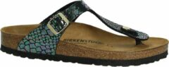 Birkenstock - Gizeh - Sportieve slippers - Dames - Maat 35 - Multi - Shiny Snake Black BF