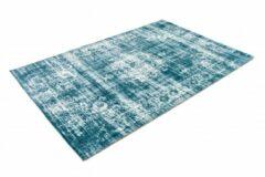 Lifa Living Laagpolig Vloerkleed - Vintage - Lichtblauw - 160 x 230 cm - Vintage, Patchwork, Scandinavisch & meer stijlen vind je op WoonQ.nl