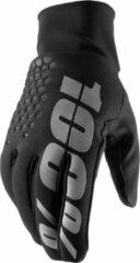 Zwarte 100% Brisker Hydromatic gloves black MTB / BMX handschoenen - Maat:L