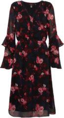 TOM TAILOR TOM TAILOR Damen Naomi Campbell: Kleid mit floralem Muster, Damen, black, Größe: 40, schwarz, gemustert, Gr.40
