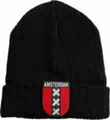 Fashionhouse Premium Kwaliteit Muts / Beanie - Hoogwaardige kwaliteit | Zwart Amsterdam