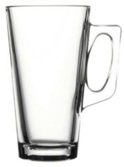 Transparante Pasabahce Vela Latte Macchiatoglas 38 cl - Gehard glas - 2 stuks