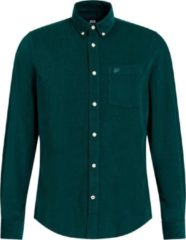 Groene WE Fashion Heren corduroy overhemd - Maat S