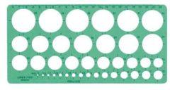 Hwks Cirkelsjabloon Linex 1116S 39 cirkels 1-35mm met inktvoetjes