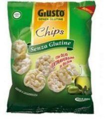 Giusto Senza Glutine Chips Olio Di Oliva Snack Salato 30 g