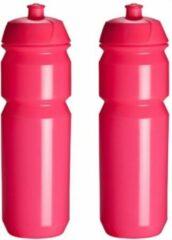 2 x Tacx Shiva Bidon - 750 ml - Flashy Pink Roze - Drinkbus