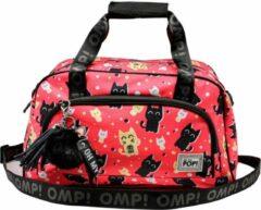 Oh My Pop - Neko Katten - Sporttas dames - Roze - Lengte 51cm