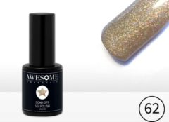 Gouden Awesome #62 Champagne Multi glitter Gelpolish - Gellak - Gel nagellak - UV & LED
