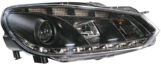 Afbeelding van AutoStyle Set Koplampen incl. DRL passend voor Volkswagen Golf VI 2008-2012 - Zwart
