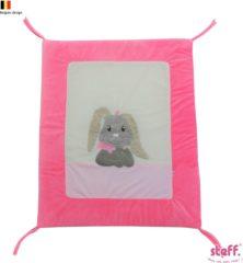 """Steff konijntje roze """"Rabbit"""" - parktapijt - boxkleed - 95x75 cm"""