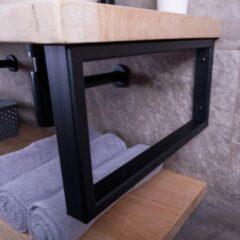 Sanigoods rechthoekige handdoek beugel zwart