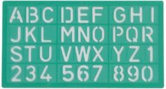 Linex 100412306 Groen Polypropyleen Letter/number stencil belettering