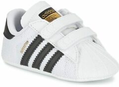 Witte Adidas originals babyschoenen Superstar Crib