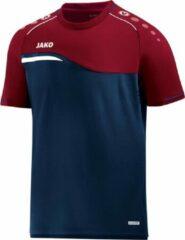 Donkerblauwe Jako Competition 2.0 T-Shirt - Voetbalshirts - blauw donker - 152