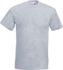 Fruit of the Loom Set van 3x stuks grote maten basic licht grijs t-shirts voor heren - voordelige katoenen shirts - Herenkleding, maat: 5XL (50/62)
