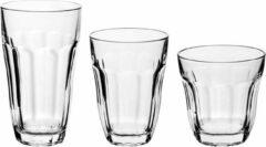 Transparante Pasabache Pasabahce Baroque glazenset 23 cl - 33 cl - 36,5 cl - Gehard glas - 18-delig