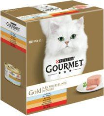 Rode Gourmet Gold - Fijne Mousse Multi pack (Rood) - kattenvoer - 8x85 g