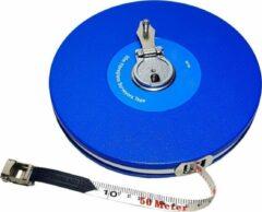 Blauwe Merkloos / Sans marque Compacte Landmeter meetlint rolmaat glasvezel 50M haspel met haak meter meet cm lint viberglass