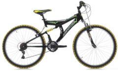 24 Zoll Cinzia Arrow Fully Jungen Mountainbike 18 Gang Cinzia schwarz