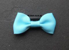 Haarknipje, haarspeldje, baby knipje, baby speldje peuter met strik (ca. 5 x 2,5 cm) van grosgrain lint turquoise – gratis verzending.
