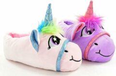 Spaansesloffen.nl Dierenpantoffel Unicorn laag paars 34-35