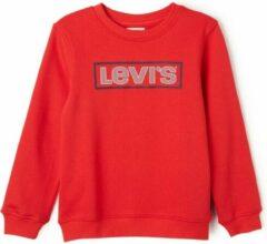 Levi's Sweater met frontprint en logo - Rood - Maat 128