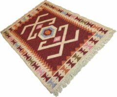 Sunar Home Vloerkleed Kelim Bogrudelik - Kelim tapijt - Kelim kleed - Oosterse Vloerkleed - 90x120 cm - Loper - Bankkleed - Plaid