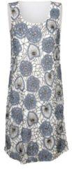 Kleid Alba Moda Creme-Weiß/Blau
