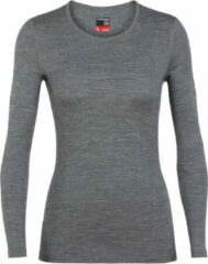 Grijze Icebreaker Womens 260 Tech Ls Crew - Grey Heather - L