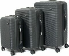 Zwarte Attitudez Air-Z Reiskoffer Set Black