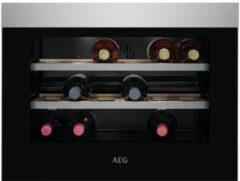 Roestvrijstalen AEG KWK884520M inbouw wijnkoelkast ACTIE op=op! 45 cm hoog