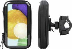 Interphone - Samsung Galaxy A52 Unicase Telefoonhouder Fiets en Motor Stuur Zwart