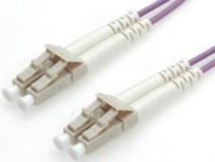 Paarse Equip LC/LС 50/125μm 3.0m Glasvezel kabel 3 m OM4 Violet