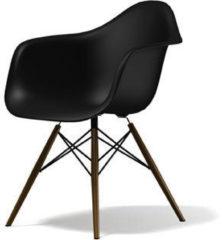 Vitra DAW Gestell dunkel - basic dark - Sitzhöhe 43 cm
