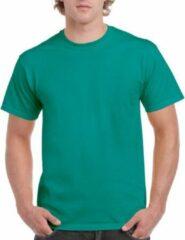 Gildan Jadegroen katoenen shirt voor volwassenen L (40/52)