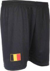 Zwarte Holland Belgie Voetbalbroekje Uit 2016-2018 -M