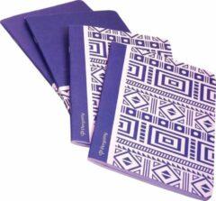 Pergamy Ethnic Schrift, Ft A5, Geruit 5 Mm, 48 Bladzijden, Blauw