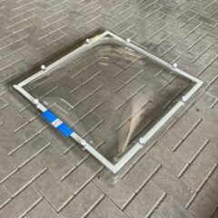 Merkloos / Sans marque Lichtkoepel plexiglas helder 40x40 cm dubbelwandig