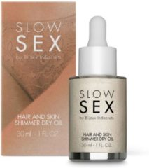 Bijoux Indiscrets Slow Sex Hair & Skin Shimmer Dry Oil - 30 ml
