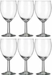 Transparante Royal Leerdam 6x Wijnglazen voor rode wijn 290 ml Gilde - 29 cl - Rode wijn glazen - Wijn drinken - Wijnglazen van glas