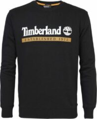 Sweater met ronde geribde kraag en lange mouwen. De sweater is gemaakt van 80% katoen en 20% polyester. Voorzien van het Timberland logo op de borst. - Zwart multi - Maat XL