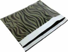 ROTIM 100x verzendzakken Zebra Groen Large Liggend Verzendzakken Zebra Groen 500x353mm