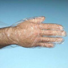 Transparante Merkloos / Sans marque 500x Plastic wegwerphandschoenen maat Large - Anti bacterien/anti-bacterieel handschoenen