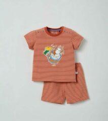 Woody pyjama baby - donkerrood-gebroken wit gestreept - cavia - 211-3-PZA-Z/946 - maat 62