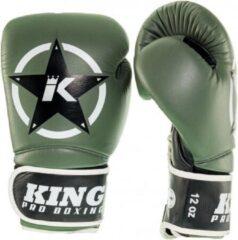 King (kick)bokshandschoenen Vintage 3 Groen/Zwart 14oz