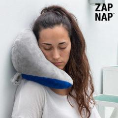 Blauwe Innovagoods Zap Nap Starship Pillow Nekkussen voor op Reis