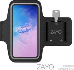 Zwarte Sportarmband Samsung S10+ Hardloop armband
