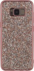 Roze Xccess TPU Case Samsung Galaxy S8+ Metallic Edge with Glitter Stones Pink