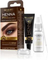 Donkerbruine REVERS® Eyebrow Henna Pro Colours Dark Brown 15ml.+15ml.