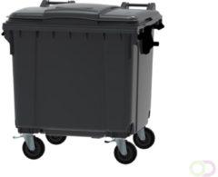 Ese 4 wiel container 1100 liter grijs